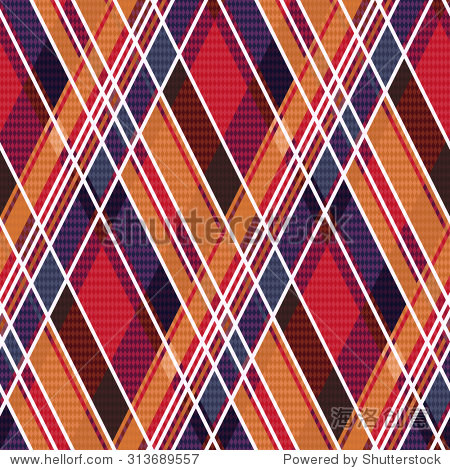 rhombic seamless pattern as a tartan plaid mainly