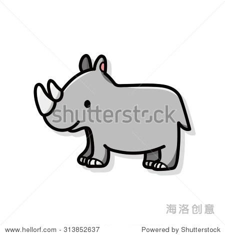动物犀牛涂鸦