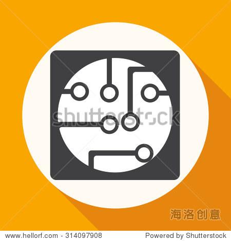电路板,科技图标