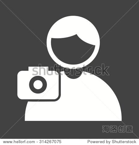 图片,摄影师,相机图标矢量图.还可用于活动.