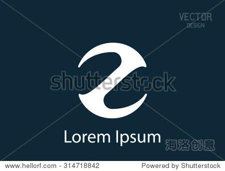 矢量标志字母z设计模板.商业创意标志