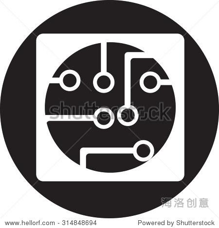 电路板,科技图标 - 符号/标志,抽象 - 站酷海洛创意