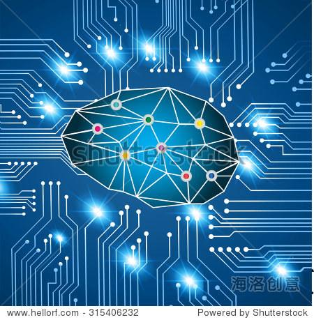 电路.矢量插图.信息图.运动blur.neon移动.脑力激荡,大脑.的想法