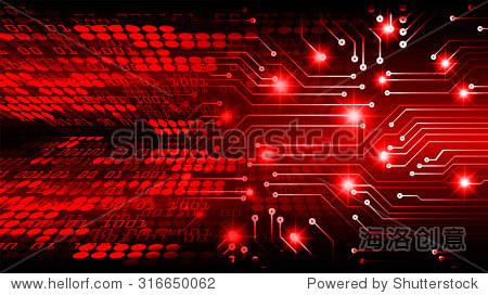 深红色光文摘技术背景为计算机图形网站互联网业务.电路.插图.信息图.