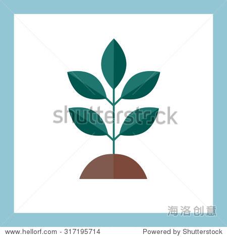 绿色种植植物,矢量图