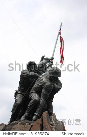 硫磺岛纪念碑,美国弗吉尼亚州阿灵顿-公园/户外