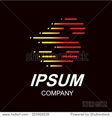 抽象的字母s logo设计模板,速度快火移动,快速能量信号,矢量图标,行
