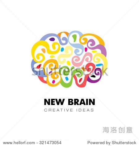 大脑.有创意的标志设计
