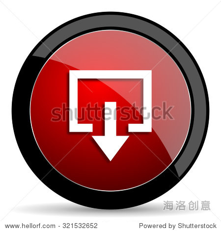退出红色圆圈光滑的网络图标白色背景