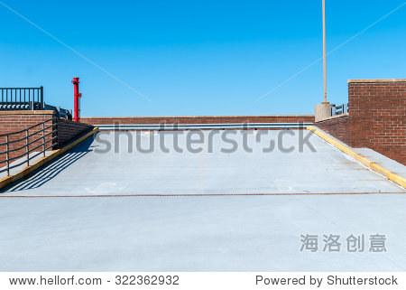 的背景 最小的设计,艺术 现代建筑 建立车道坡道 工业设计和建筑 高清图片