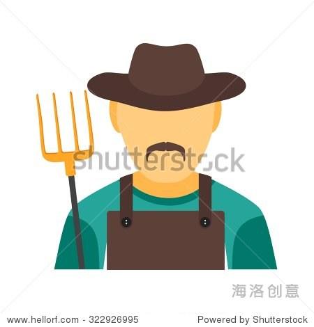 农民,玉米,农业图标矢量图.还可用于活动.