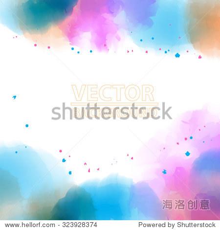 水彩背景色彩缤纷的模板-背景/素材,抽象-海洛创意,,.