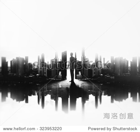 ��in9l$yi��d#9.�_bw double exposure of young business man in city