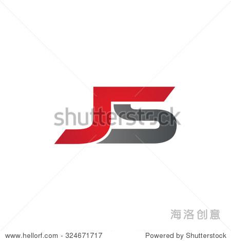 js company linked letter logo - 站酷海洛正版图片