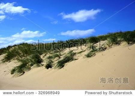 科德角国家海岸沙丘海滩上的大西洋