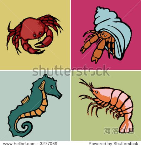 海洋动物-插图/剪贴图-海洛创意正版图片