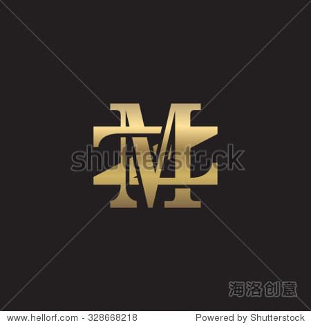 ?M??Mz?_letter z and m monogram golden logo