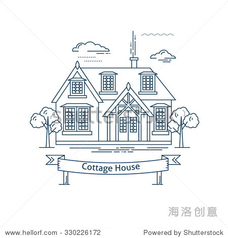 大树和房子简笔画创意