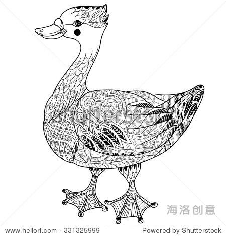 动物 鸡 简笔画 手绘 线稿 450_470