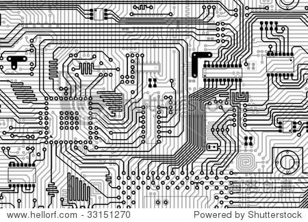 电路板电子工业灰色背景