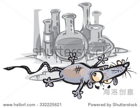 实验室的老鼠.在不同的层,便于编辑. - 动物/野生生物