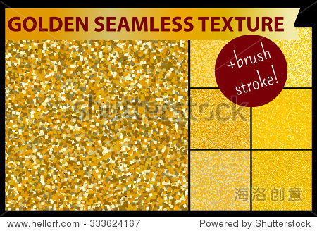 gold seamless glitter textures set pattern for decorative design