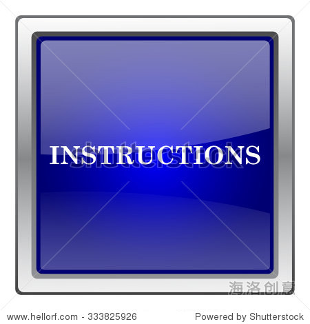 Instructions icon. Internet button on white background. EPS10 vector.