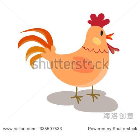 的卡通鸡 向量剪贴画插图 动物 野生生物 站酷海洛创意正版图片,