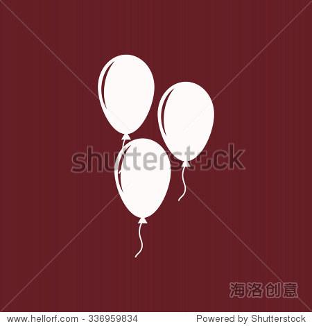生日气球的绳子或带子的象征.图标.矢量