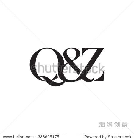 q.'z(?9??z?@_q&z initial logo. ampersand monogram logo