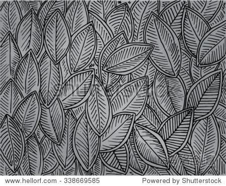 树叶设计素描创意训练