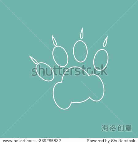 猫爪印图标