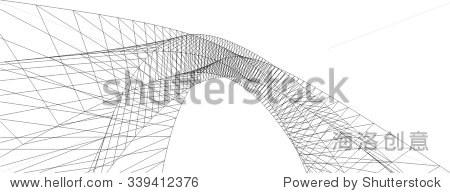 抽象的几何图形.结构的背景
