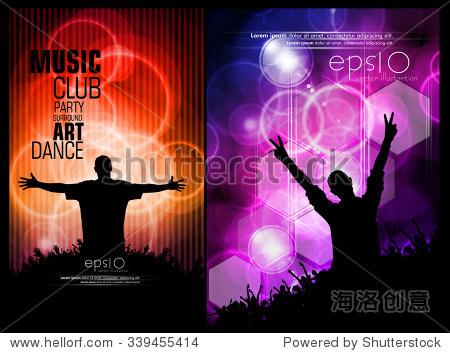 音乐背景海报和横幅