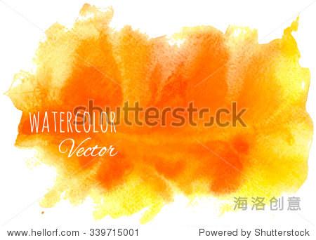 摘要矢量手绘水彩背景.明亮的橙色火焰