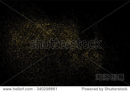 gold glitter texture on a black background. holiday background.