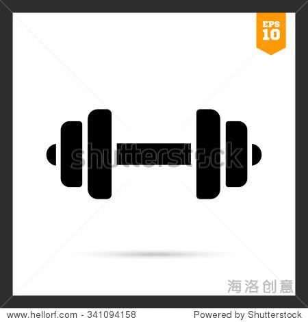 杠铃与权重板的矢量图标 - 站酷海洛正版图片, 视频