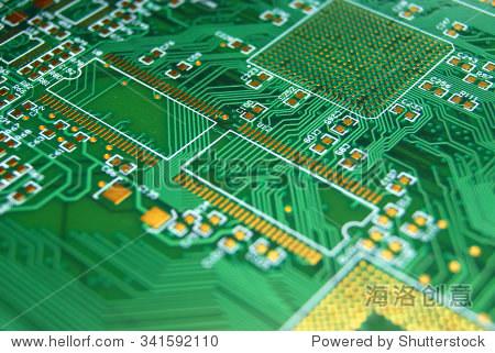 印刷电路板绿色电子背景