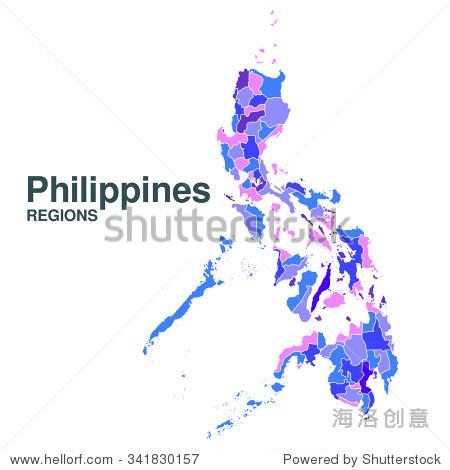 菲律宾的地图 - 背景/素材
