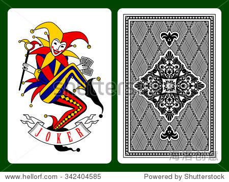 小丑扑克牌和黑色背后的背景 原始设计 艺术,符号 标志 海洛创意正版图片,视频,音乐素材交易平台 Shutterstock中国独家合作伙伴 站酷旗下品牌图片