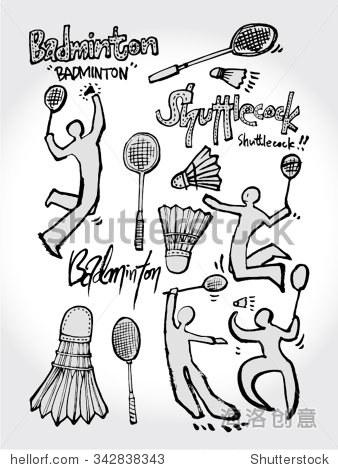 体育海报,手绘插图向量/运动背景
