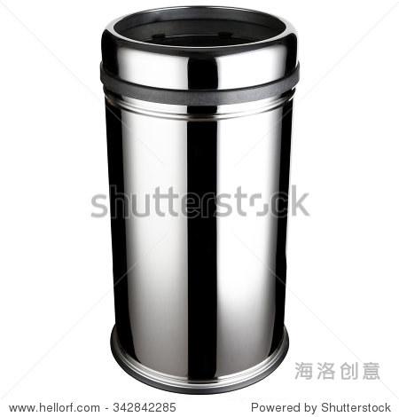 圆柱形垃圾桶,抛光不锈钢