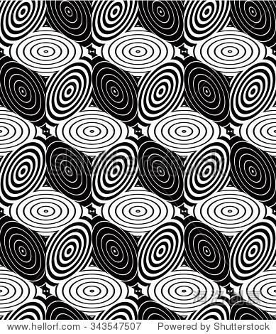 无尽的单色对称模式,平面设计.几何光学壁纸是纠缠在一起的.图片