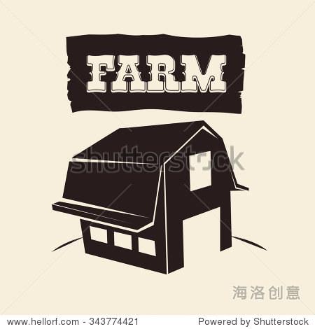 农场与建筑设计概念,矢量图10