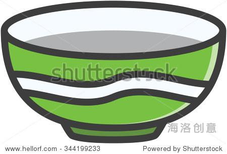 碗向量卡通插图