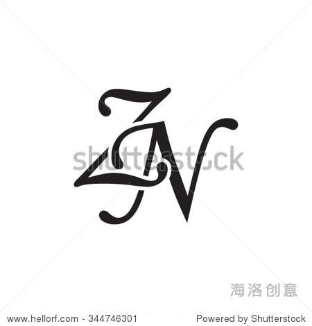 zn initial monogram logo
