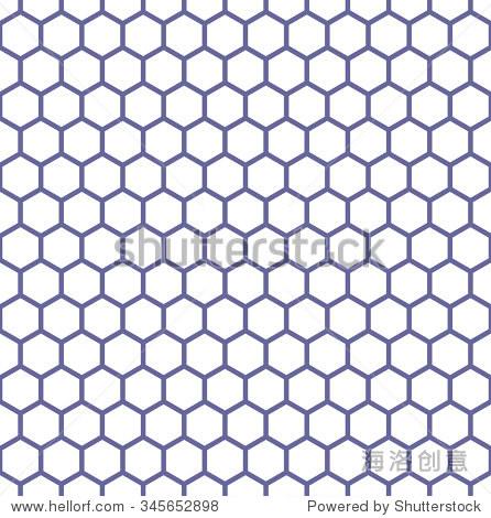 无缝的六边形结构.蜂窝使成格子状图案.矢量艺术.