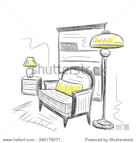 房间内部示意图-室内-海洛创意正版图片