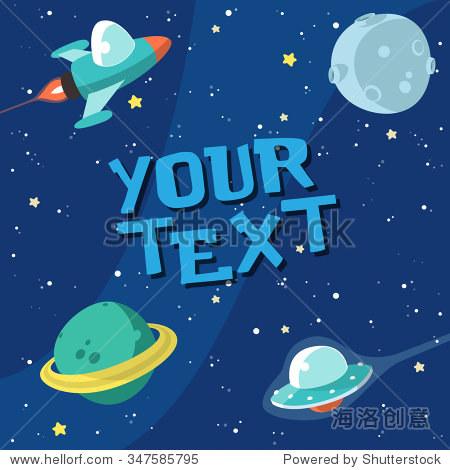 可爱的太空火箭组成-艺术,科技-海洛创意正版图片,,-.
