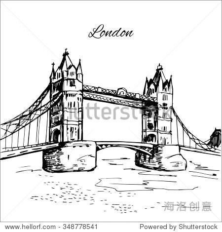 手绘伦敦塔桥 - 建筑物/地标,公园/户外 - 站酷海洛